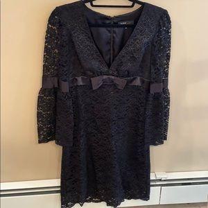 ABS by Allen Schwartz Lace Long Sleeve Dress Sz 6